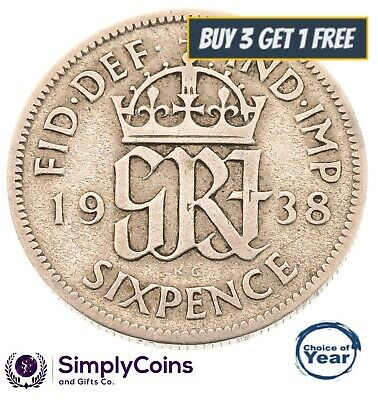 1937 To 1952 George Vi Silver Sixpences - Choice Of Year / Date • 2.99£