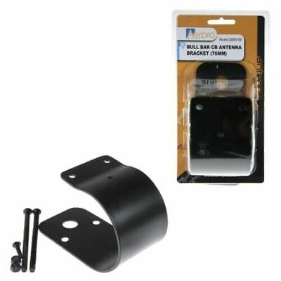 AU39 • Buy AXIS 76mm BULLBAR MOUNT BLACK SLOTTED BRACKET ANTENNA UHF CB FOR GME UNIDEN