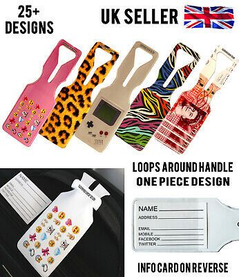 £1.49 • Buy All Luggage Tags Tag Travel Holiday Bag Label Suitcase Address Design Name Id