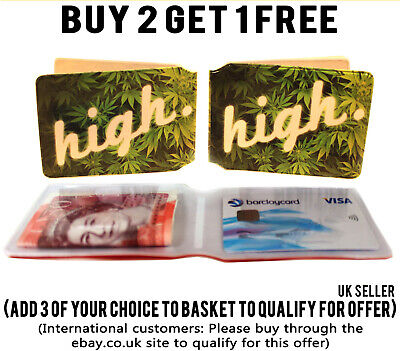£1.89 • Buy High Bus Pass Wallet Weed Credit Travel Cash Rail Id Holder For Oyster Card