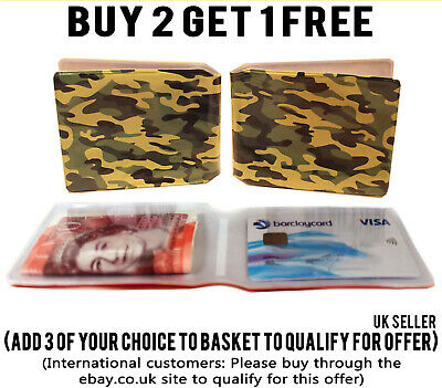 £1.99 • Buy Army Camo Bus Pass Wallet Credit Travel Cash Rail Id Holder For Oyster Card