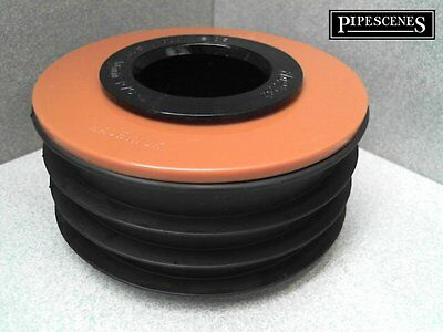 Waste To Soil Adapter Cap Pipe Reducer 110mm 4  To 40mm 43mm 1 1/2  Underground • 12.70£