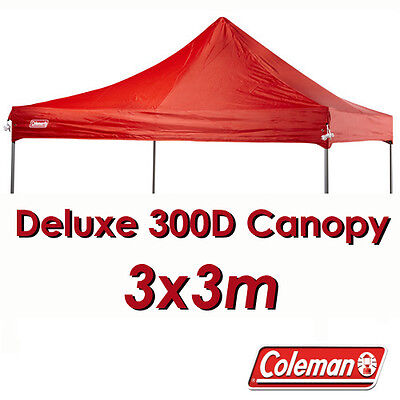 AU89.95 • Buy COLEMAN DELUXE 3x3 RED GAZEBO CANOPY ROOF REPLACEMENT COVER TOP FITS 3M OZTRAIL
