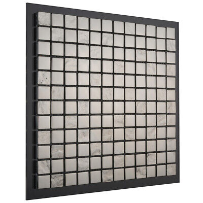 Charlotte Silver Chrome Mini Square Pattern Mosaic 300 X 300mm Wall Tile Sheet • 11.99£