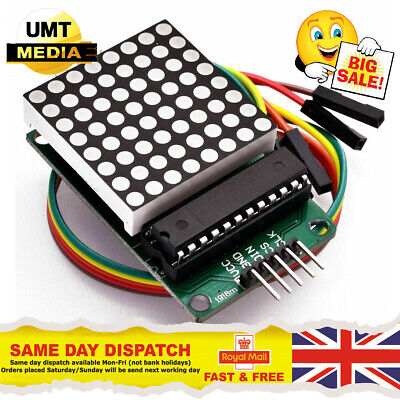 MAX7219 RED DOT Matrix 8X8 Display Module With Cables For Raspberry Pi Arduino • 3.65£
