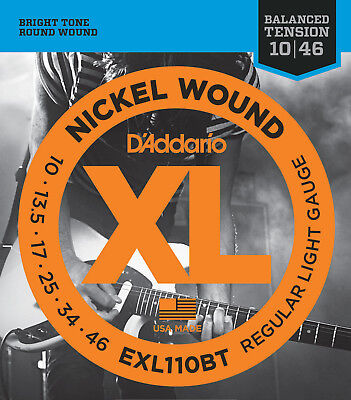 $ CDN8.26 • Buy D'Addario EXL110BT 10-46 Balanced Tension Light Electric Guitar Strings