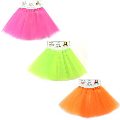 AU21.95 • Buy Tulle Tutu Skirt 80s Colour Women Costume Hot Pink Green Neon Fluoro Orange