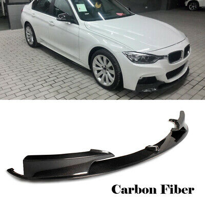AU641.51 • Buy Carbon Fiber Front Lip Spoiler Splitter For BMW 3Series F30 MSport Bumper 13-17