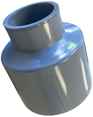 Glued Waste Pipe To Soil Pipe Adapter Pipe Reducer 110mm To 50mm (55mm) 2  Grey • 14.69£