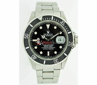$ CDN10525.01 • Buy Rolex 40mm Submariner Mens Watch With Rotatable Bezel And Index Dial 16610