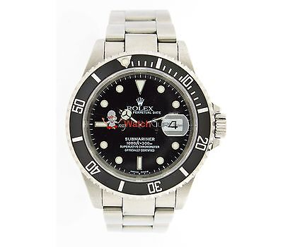 $ CDN9922.63 • Buy Rolex 40mm Submariner Mens Watch With Rotatable Bezel And Black Dial 16610