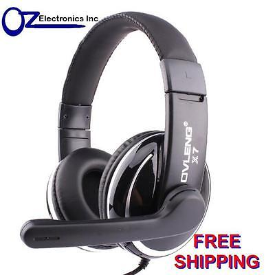 OVLENG X7 Stereo PC Gaming Headset Headphones For Skype Onoine Chat Mic 3.5mm • 15.24£