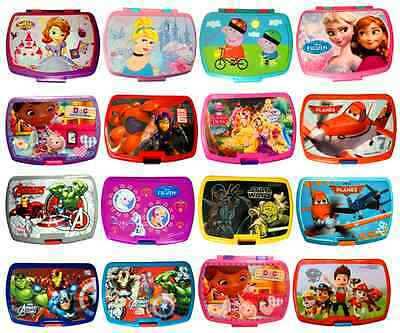 Kids Character Sandwich Lunch Box Food Fruit Snacks Children School Container • 5.99£