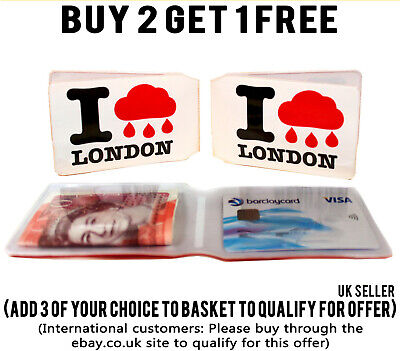 £1.89 • Buy I Rain London Bus Pass Wallet Credit Travel Cash Rail Id Holder For Oyster Card