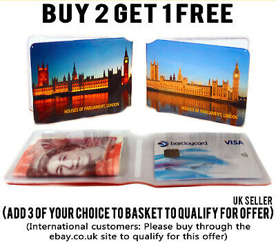 £1.99 • Buy Parliament Bus Pass Wallet Credit Travel Cash Rail Id Holder For Oyster Card