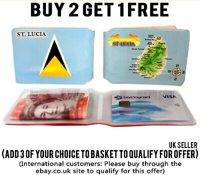 £1.99 • Buy St Lucia Bus Pass Wallet Credit Travel Cash Rail Id Holder For Oyster Card