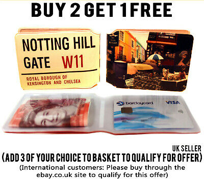 £1.89 • Buy Notting Hill Bus Pass Credit Travel Id Holder Rail Slim Wallet For Oyster Card