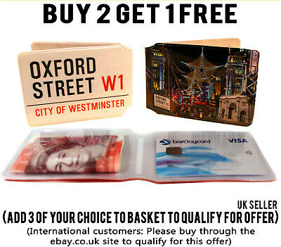 £1.89 • Buy Oxford Street Bus Pass Credit Travel Rail Id Holder Slim Wallet For Oyster Card