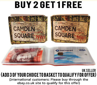 £1.89 • Buy Camden Square Bus Pass Credit Travel Rail Id Holder Slim Wallet For Oyster Card