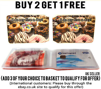 £1.99 • Buy Donuts Bus Pass Credit Travel Rail Slim Id Holder Wallet For Oyster Card