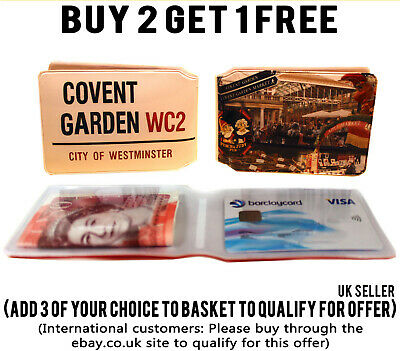 £1.89 • Buy Covent Garden Bus Pass Credit Travel Rail Id Holder Slim Wallet For Oyster Card
