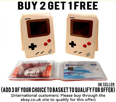 £2.19 • Buy Gameboy Bus Pass Credit Travel Rail Slim Wallet For Oyster Card