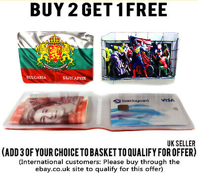 £1.89 • Buy Bulgaria Bus Pass Credit Travel Rail Id Holder Slim Wallet For Oyster Card