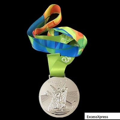 £36.22 • Buy New 2016 RIO OLYMPIC SOUVENIR MEDAL W/RIBBON - Silver - Collectable