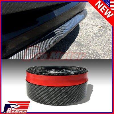 $13.50 • Buy Carbon Fiber Universal Front Spoiler Bumper Lip Chin Roll Skirt Rubber Splitter