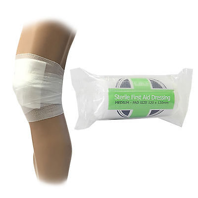 £3.59 • Buy 5 X CMS Medical Medium Sterile First Aid Wound Injury Dressing Bandages 12x12cm