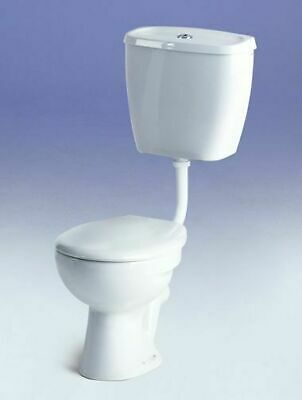 Low Level Toilet, S Trap Pan & Cistern, White, Ceramic, Including Toilet Seat • 237.81£