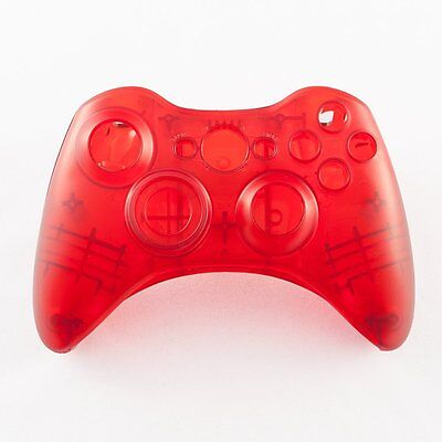 £7.05 • Buy Red Custom Crystal Clear Wireless Controller Shell Case For XBox 360 Pad