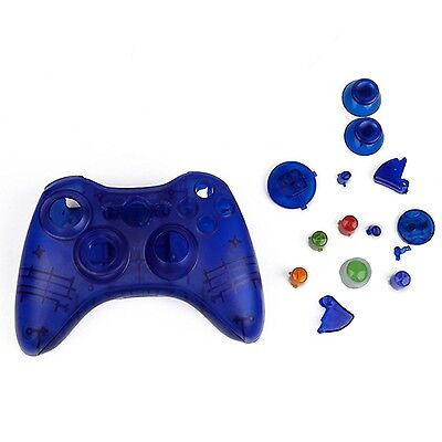 £99.99 • Buy Blue Custom Crystal Clear Wireless Controller Shell Case For XBox 360 Pad