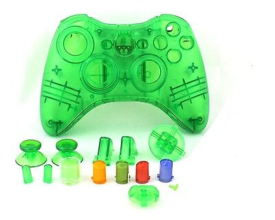 £5.99 • Buy Green Custom Crystal Clear Wireless Controller Shell Case For XBox 360 Pad