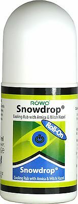 ROWO 50ml Snowdrop Roll On Cold Arnica Muscle Joint Pain Relief Cream Arthritis • 12.99£