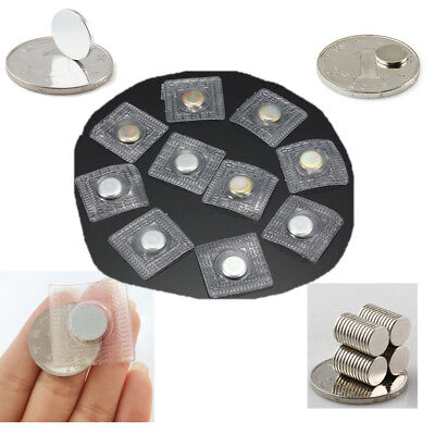 10/20x Hidden Invisible Sew Magnetic Snaps Magnet Button Purse Closure Fastener • 3.27£