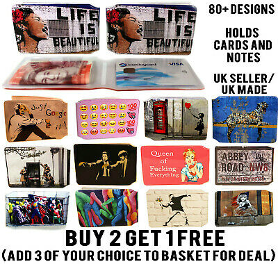 £1.99 • Buy Banksy Street Art Bus Pass Wallet Credit Travel Rail Id Holder For Oyster Lot