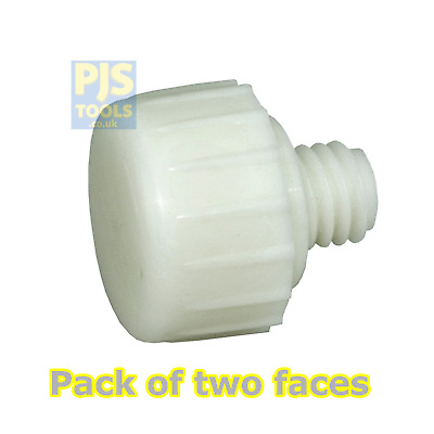 2 X Thor 708NF 25mm Spare Replacement Nylon Faces For THO708N Hammer (Pair) • 4.50£