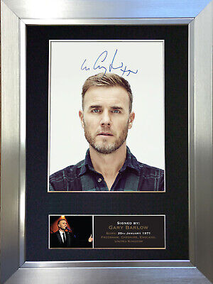 GARY BARLOW Signed Autograph Mounted Photo Repro A4 Print 402 • 5.99£