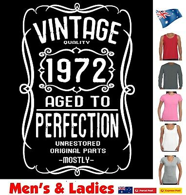 AU22.95 • Buy 50th Birthday T Shirt 1970 Funny T Shirts Vintage Present Gift Size Charts Tee