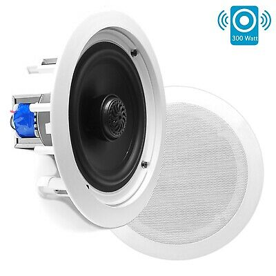 AU98.04 • Buy Pyle PDIC80T In-Wall / In-Ceiling Dual 8-inch 2-Way Speaker System White (Pair)