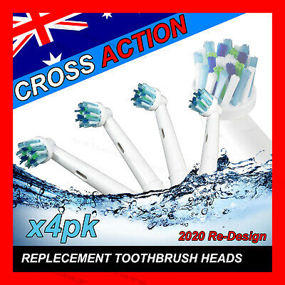 AU20.96 • Buy CROSS ACTION Oral B Compatible Electric Toothbrush Replacement Brush Heads X16