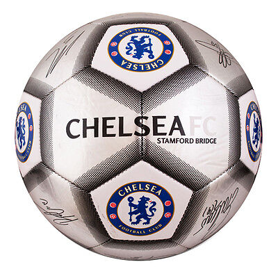 Official Chelsea Fc Silver Colour Signature Football Adult Size 5 New Xmas Gift • 13.97£