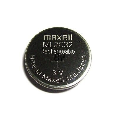 AU6.46 • Buy New Genuine For Maxell ML2032 ML 2032 Rechargeable 3V Coin Cell Battery