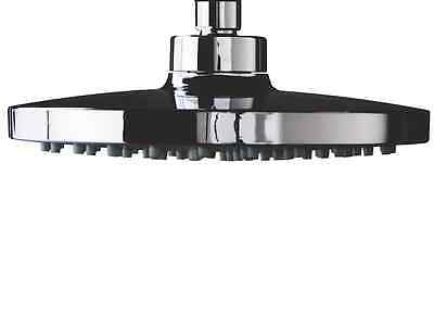 Large Round 200mm Chrome Shower Head - Rub Clean Nozzles + Swivel Joint   RDH22 • 12.99£