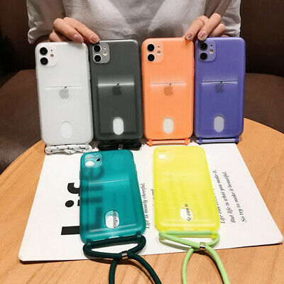 AU3.79 • Buy Clear Card Holder Pocket Soft Lanyard Case Cover For IPhone 11 Pro Max XR XS 8 7