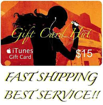 AU34.99 • Buy $15 US ITUNES CARD Gift Voucher Certificate Apple USA USD ITune 100% Genuine