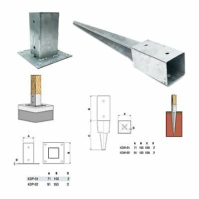 £13.79 • Buy NEW METPOST Metal Support Post / Fence Support Spike Connection Zinc Plated