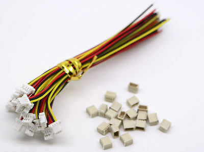AU3.42 • Buy SH JST 1.0 3-Pin Mini Micro Connector With Wires Cables 100MM X 20 Sets