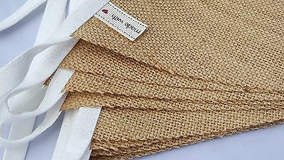 £1.65 • Buy HESSIAN Fabric Bunting /  SOLD BY THE METRE / Wedding Party Christmas Garden